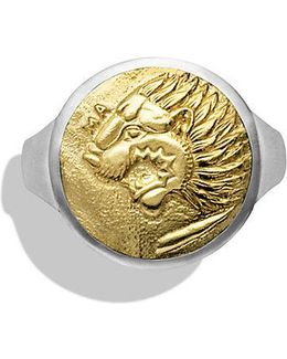 Petrvs Lion Signet Ring With 18k Gold