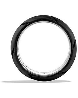 Forged Carbon Band Ring