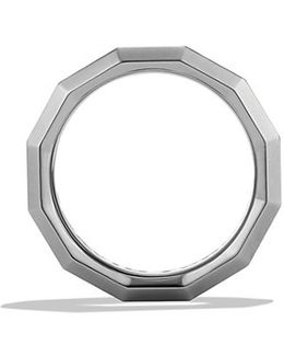 Dy Delaunay Band Ring In Gray Titanium, 7.5mm