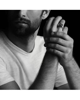 Heirloom Streamline Signet Ring With Jade
