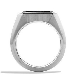 Heirloom Streamline Signet Ring With Pietersite
