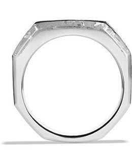 Fused Meteorite Signet Ring