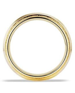 Knife Edge Band Ring In 18k Gold, 8mm