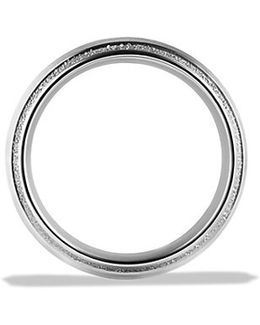 Knife Edge Band Ring In Platinum, 10mm