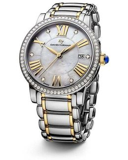 Classic 38mm Quartz Watch With 18k Gold And Diamonds