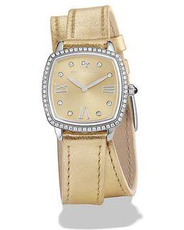 Albion 27mm Gold Metallic Swiss Quartz Watch