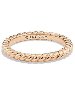 Dy Unity Cable Wedding Band In 18k Rose Gold, 2.45mm