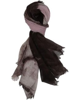 Marte Hand Painted Cashmere And Silk Stole