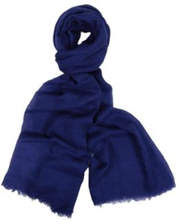 Acero Electric-blue Cashmere And Silk Scarf