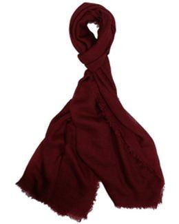 Acero Burgundy Cashmere And Silk Scarf
