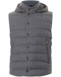 Grey Wool Gilet
