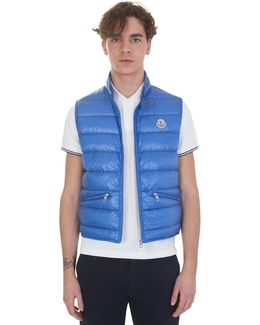 Blue Guy Quilted Nylon Down Vest