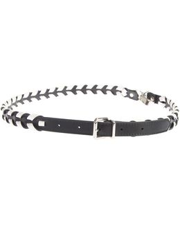 Black And White Leather Strap