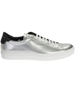 Leather Sneakers With Contrasting Details