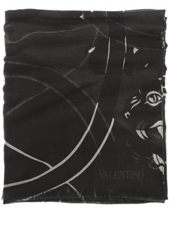 Panther Printed Modal, Cashmere And Silk Scarf