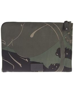 Military Green Cotton Canvas Panther Document Case