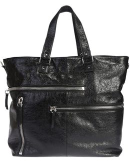 Leather Rockstud Tote Bag