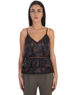 Silk Satin And Lace Tank Top