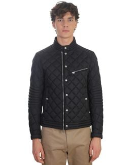Padded Nylon Biker Jacket