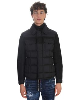 Nylon And Wool Padded Jacket