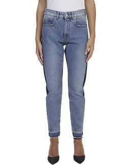 Denim Two Tone Straight Leg Jeans