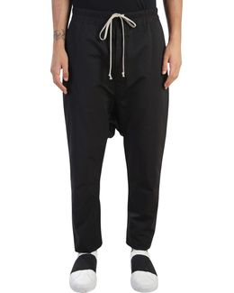 Nylon Low Crotch Trousers With Drawstring