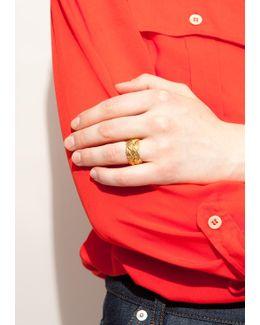 Gold Braided Miki Ring