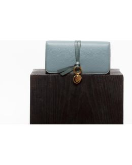 Cloudy Blue Alphabet Long Wallet
