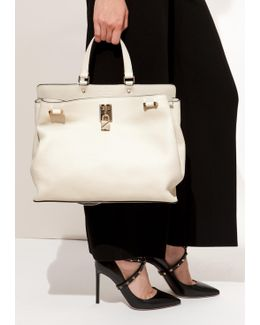 Light Ivory Padlock Handle Bag