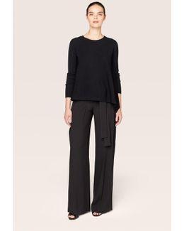 Long Sleeve Asymmetrical Crewneck Pullover