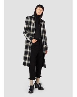 Long Car Coat With Shearling Collar