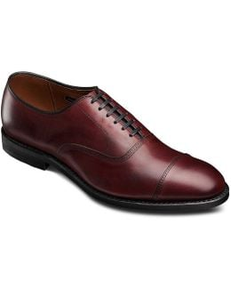 Park Avenue Cap-toe Leather Dress Oxfords