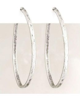 Medium Oblong Hoop Earrings