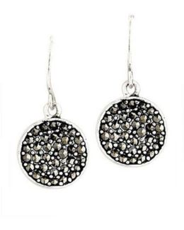 Marcasite Paddle Earrings