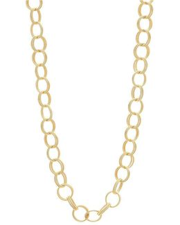 Textured Double Link Chain Long Necklace
