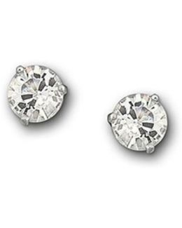 Crystal Solitaire Earrings