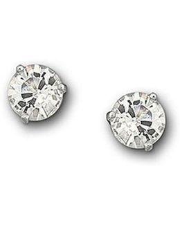 Crystal Solitaire Earrings