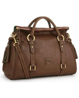 Florentine Tasseled Leather Satchel