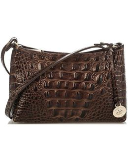Melbourne Collection Anytime Mini Croco-embossed Shoulder Bag