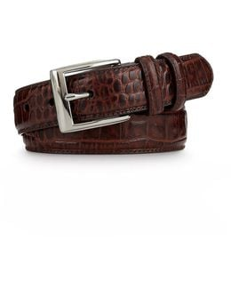 Big & Tall Faux Crocodile Belt
