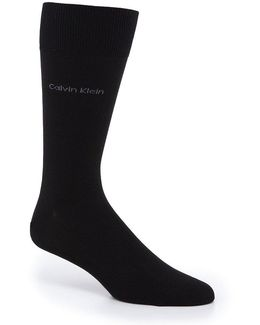 Giza Cotton Crew Dress Socks