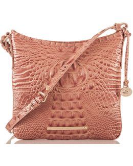 Melbourne Collection Jody Croco-embossed Cross-body Bag