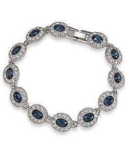 Simply Blue Oval Pav Tennis Bracelet