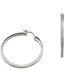 Somerset Crystal Pavé Hoop Earrings