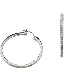 Somerset Crystal Pavé Hoop Earrings