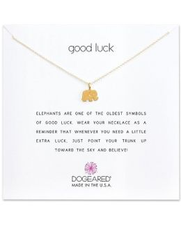 Good Luck Elephant Charm Delicate Gold-dipped Sterling Silver Necklace