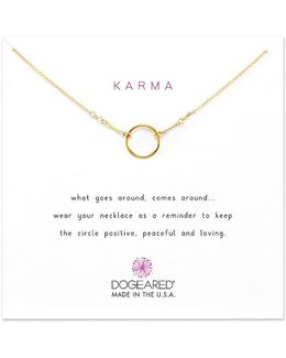 Original Karma Dipped Sterling Silver Delicate Necklace
