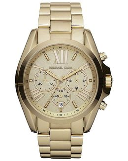 Bradshaw Goldtone Stainless Steel 3 Hand Watch
