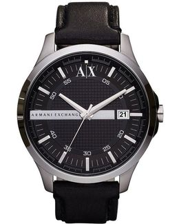 Ax Smart Leather Strap 3 Hand And Date Watch