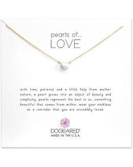 Pearls Of Love Freshwater Pearl Delicate Gold Dipped Necklace
